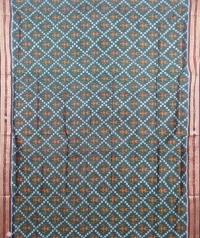 Green and maroon khandua silk saree