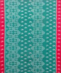 Green and maroon sambalpuri handloom cotton saree