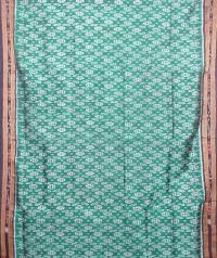 Green and black khandua silk saree