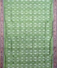 Pear green and black khandua silk saree