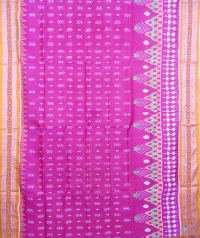 Purple and yellow khandua silk saree