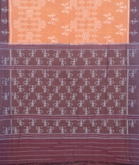 Brown and coffee sambalpuri handloom cotton saree