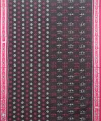 Black and maroon sambalpuri handloom cotton saree