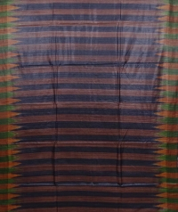 Brown & black colour handwoven tussar silk saree