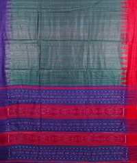 Multi colour handwoven tussar silk saree