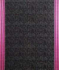 Black and magenta sambalpuri handwoven cotton saree