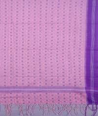 Pink and light violet sambalpuri handwoven cotton stole