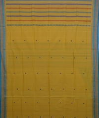 Yellow colour handwoven  dongria saree