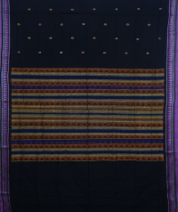 Black colour handwoven  dongria saree