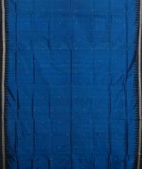 Blue colour handwoven  bomkai silk saree