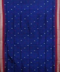 Navy blue colour handwoven  bomkai silk saree