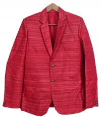 Red men tussar blazer
