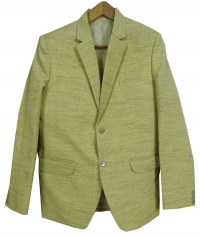 Yellow men tussar blazer