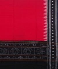 Red and black sambalpuri handwoven cotton dupatta