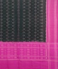 Green and pink sambalpuri handwoven cotton dupatta