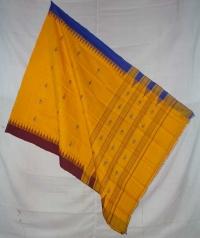 Yellow handwoven kotpad dupatta