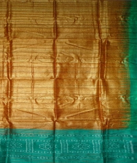 Yam orange and green handwoven tussar dupatta