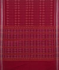 Maroon sambalpuri handwoven cotton saree