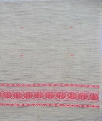Grey handwoven tussar shawl