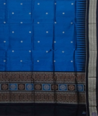 Blue & black handwoven silk dupatta