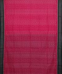 Pink and green handwoven sambalpuri cotton saree