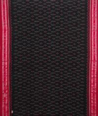 Green and red handwoven sambalpuri cotton saree
