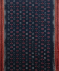 Green and brown handwoven sambalpuri cotton saree