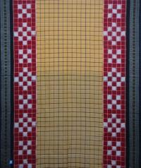 Brown, red and black handwoven sambalpuri cotton saree