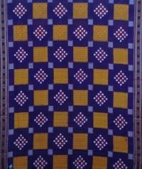 Violet and maroon handwoven sambalpuri cotton saree