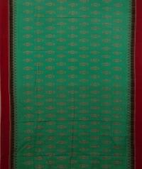 Sky blue and maroon handwoven sambalpuri cotton saree