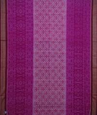 Magenta and maroon handwoven sambalpuri cotton saree