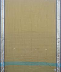 Moss and black sambalpuri handloom cotton saree