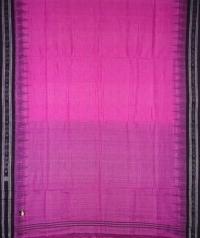 Pink and black sambalpuri handloom cotton saree