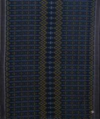 Sacramento green  black sambalpuri handwoven cotton saree