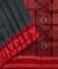 Sacramento green red handwoven khandua silk saree