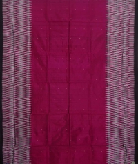 Jam black handwoven sambalpuri silk saree