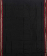 Black handwoven  dongria silk saree