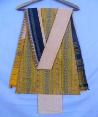 Yellow and blonde yellow  sambalpuri cotton suit piece