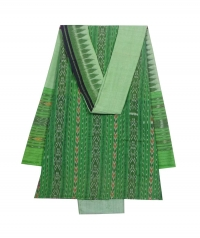 Emerald green sambalpuri cotton suit piece