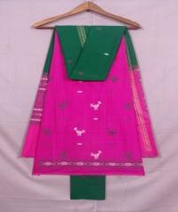 Pink and green bapta suit piece