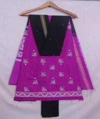 Purple and black bapta suit piece