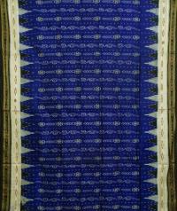 Berry blue black handwoven  khandua silk saree