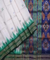 Offwhite handwoven khandua silk saree