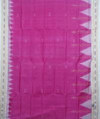 pink offwhite handwoven khandua silk saree