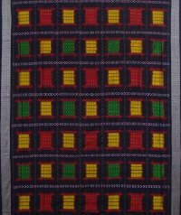 Multicolour handwoven sambalpuri silk saree