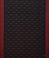 Navy blue maroon handwoven sambalpuri cotton saree