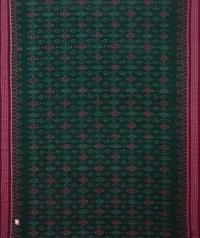 Green maroon handwoven sambalpuri cotton saree