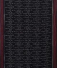 Black maroon handwoven sambalpuri cotton saree