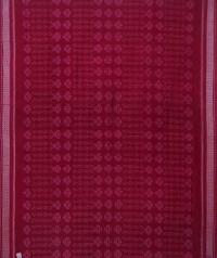 Maroon handwoven sambalpuri cotton saree