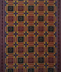 Multicolour handwoven UTKAL RATNA cotton saree